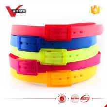 2015 fashion colorful silicone golf belt