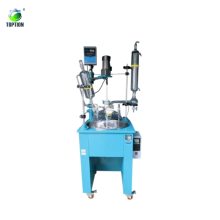 100L Single-deck Glass Chemical Reactor, Chemistry Reactor Vessel with Oil Bath