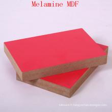 MDF mélamine rouge