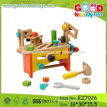 OEM & ODM Kids Tool Box Set Conjunto de ferramentas para brinquedos de madeira infantil DIY Tool Box Set