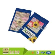 Papel de aluminio laminado Mylar 3 Side Seal 5g Secado a base de hierbas Pacakging Custom Mini Ziplock Bag