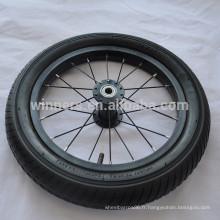 """14 """"x1.95"""" roue noire vélo roues en alliage d'aluminium"""