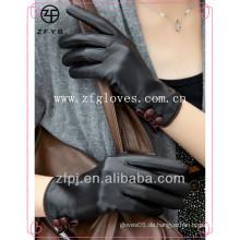 Mode entworfene weibliche Lederhandschuhe