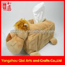 Soft Animal Skin Tissue Box/Plush Animal Lion Tissue Box Cover