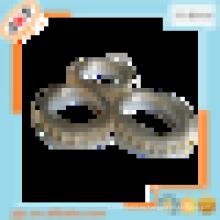 Clip de lujo del anillo de la cortina del diamante de 24k, diseño real de la cortina