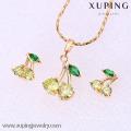 61858-Xuping мода женщина ювелирные изделия набор с 18k позолоченный
