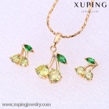 61858-Xuping Fashion Woman Jewlery engastado con oro de 18 quilates plateado