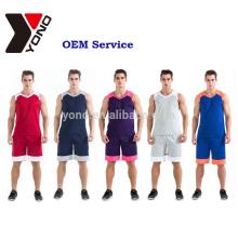Uniforme de maillot de basket-ball définit des kits uniformes d'impression de basket-ball de sublimation