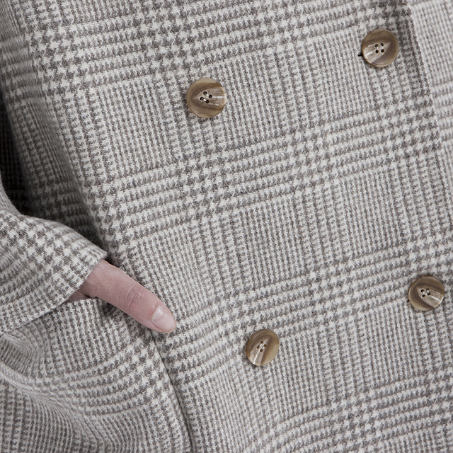 Plaid cashmere coat