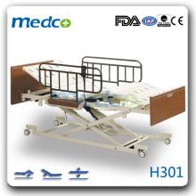 H301 três funções elétricas Hi-low homecare hospital bed do paciente