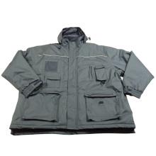 Adult′s Adults Padded Padding Warm Waterproof Polyester Winter Woven Jacket Parka (IC17)
