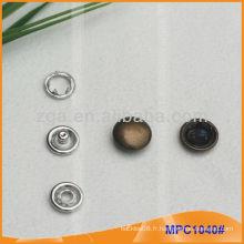 Prong Snap Button / Gripper avec bouchon en métal de mode MPC1040