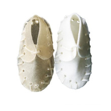 white rawhide shoes shaped dog chew products for dog