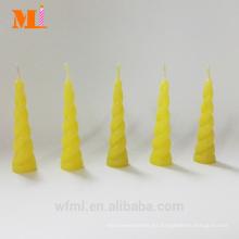 First Class Own Mold Lemon Yellow Unicorn Candle para Cake Wholesale