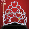 Tall New Year Rhinestone Tiaras Crown Girl