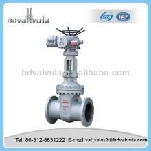 flange end motorized cuniform gate valve