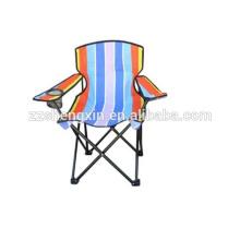 Cadeira de metal dobrável ao ar livre, cadeira de encosto de encosto