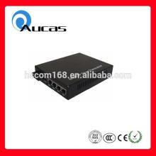 High speed 10/100/1000m 4 ports fiber optic media converter