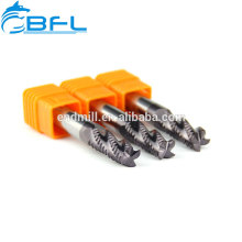 Cortador del molino de extremo de desbaste de flauta BFL 3 para torno CNC