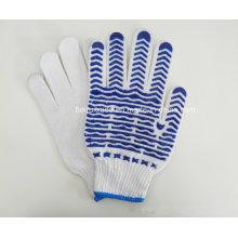 Подлинная Ди-хлопок синий волна точка Пластиковые перчатки для работы