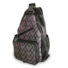 geometric luminous shoulder Chain bag Leather women Handbag Backpack Drawstring leather bucket bags fashion Tote bag