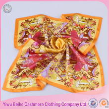 Fashion 100% silk fabric neck scarf ladies for painting with good offer