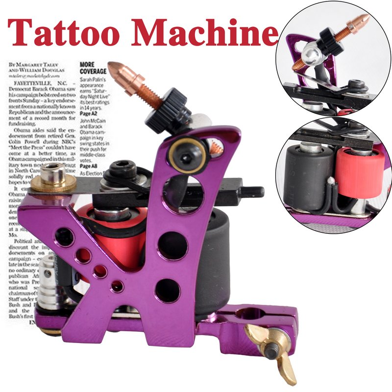Purple tattoo machine