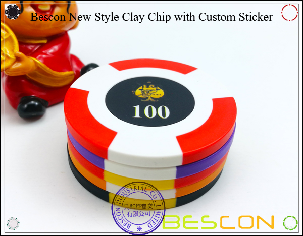 Bescon New Style Clay Chip with Custom Sticker-8