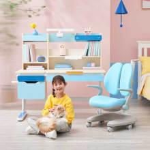 Mesa de estudo ajustável de madeira para mesa ergonômica infantil