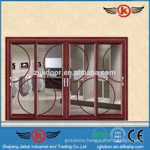 JK-AW9118 High-end Decorative Aluminum DOor Glass Sliding Door