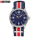 Nylon Banda Casual Deporte Impermeable Relojes Hombres