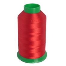 Fil de broderie de couleur de fibre de polyester 100% fait en Chine