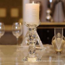 Castiçal de cristal Eurpean elegante para decoração