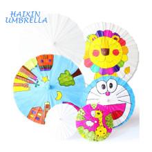 Wholesale Fashionable Multipurpose Children DIY Customized White Color Chinese Oil Paper Umbrella For Wedding Decoration Parasol