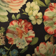Tela de camurça da impressão da flor da forma para o vestuário