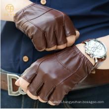 fashion driving fingerless leather gloves for men's