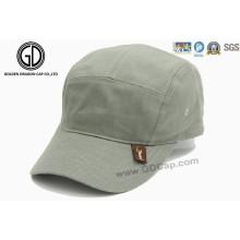 5 Panels Customarmy Hat Military Cap com etiqueta de remendo de tecido