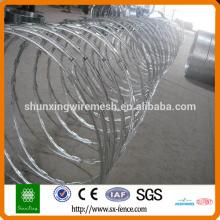 200g / m2 Hot Dipped Galvanizado Corda Wire Razor