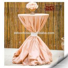 100% Polyester Kundenspezifische Dekoration Bunte Fancy Hochzeit Tischdecke