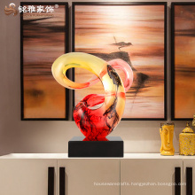 Guangzhou arts and crafts resin decorative abstract sculpture for home decor