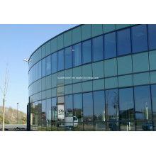 170 Serie Thermal Break Aluminium Versteckte Rahmen Glas Vorhangfassade