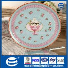 Turkish style sweet pink decoration porcelain cake set