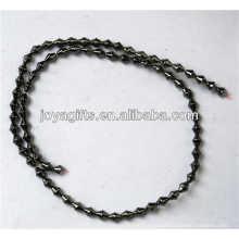 Natural de alta calidad 4 * 5 hematita cuentas sueltas para la fabricación de joyas