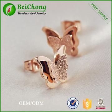 Boucles d'oreilles animaux papillon fantaisie mode personnalisé