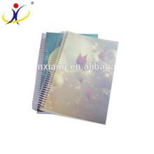 Couverture de décoration d'imprimé ECO papier recyclé Notebook A5 Taille cahier d'exercices Papier d'impression personnalisée