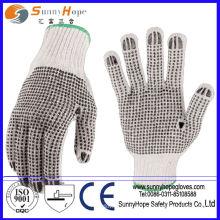 Farbe beide Seiten pvc gepunktete Handschuhe