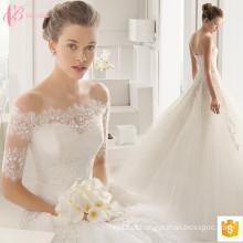 2017 Lindo vestido de noiva de noiva Vestido de noiva aplicado à venda