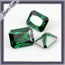 Zirconia cúbica sintética color esmeralda popular