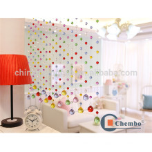 Sala de venda quente divisória cortina de cristal cortina de cortina colorida