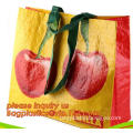 Custom Promotional wine shopping tote fabric polypropylene laminated pp non woven bag